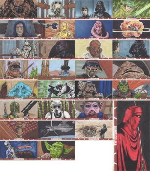 Star Wars: Return of the Jedi Sketch Cards by AtlantaJones