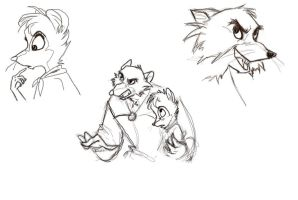 Mrs. Brisby and Justin sketchdump by yip-yop