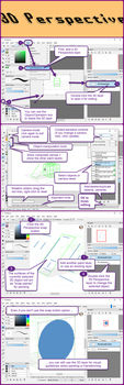 3D Perspective layers in FireAlpaca 1.6 by obtusity