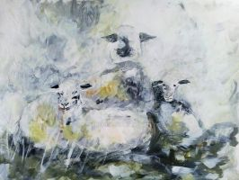 Drizzley sheep by KateHodges