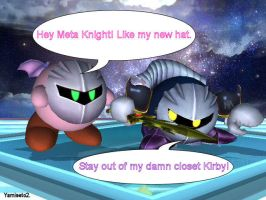 Stay out of my closet, Kirby. by yamiseto2