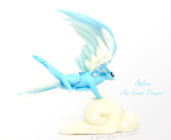 Aither, Sky Spirit dragon by rosepeonie