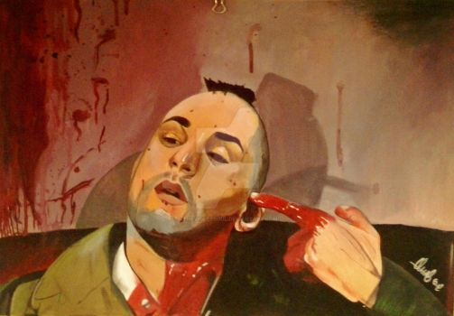 Taxi Driver Scene Painting by Thevioletsoul