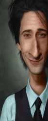 Adrien Brody Caricature by giselleukardi