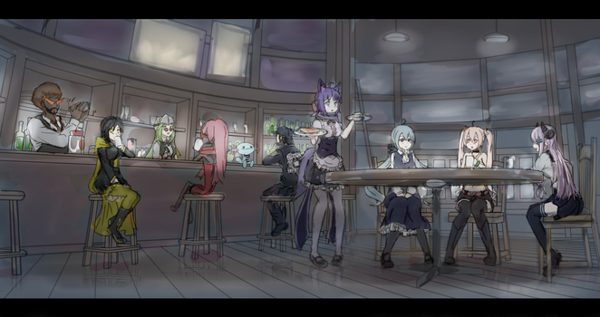 vrchat bar by SFrostWing