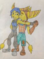 Giftart Donna and Ratchet by BladeNight01