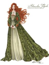 Fashion illustration - XVI century inspire by AlexaFV