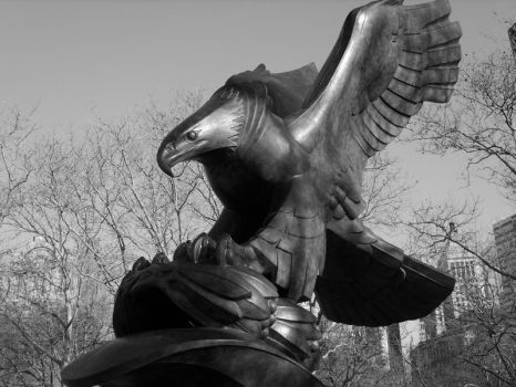 Eagle Statue by Xylaphonic