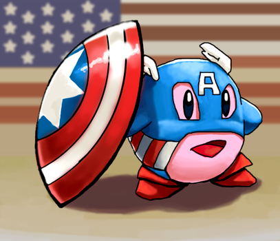 Captain Amerikirby by soulrailer
