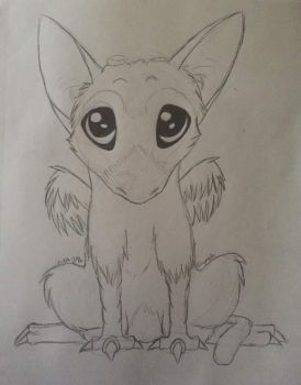 Chibi Trico by panther-star