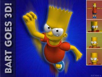 Bart Simpson Goes 3D by admax