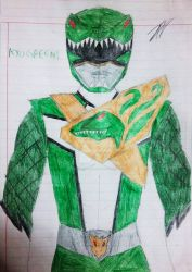 Jurassic Squad: Green Ranger/Kyogreen by SpiderDetentionaire
