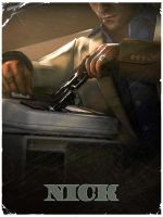 Nick - L4D2 vintage poster by The-Loiterer