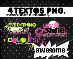 4 textos PNG by preciousvhstyle