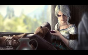 Ciri from The Witcher 3 by FedeSchroe