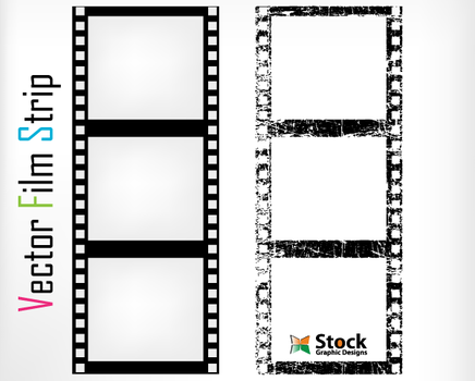 Free Film Strip Vector Art by Stockgraphicdesigns