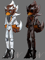 FNAF Terry - Day and Night versions by SpoodleButt