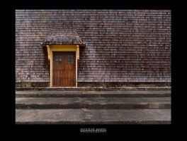 Door with a Yellow Frame by Isquiesque