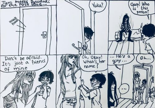 Turo meets Ryuuzaki for the first time... by jessica-doessing