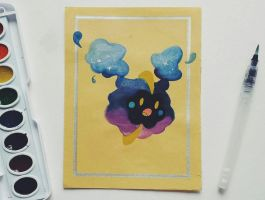 Nebby (quick watercolor) by TruiArts