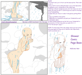Shower Comic Page Base by ShinanaEvangelian1