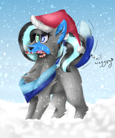 Candycane and Snow by Doodle-Noodle3