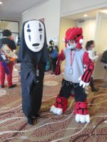No Face and Groudon cosplay by videogameking613