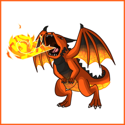 Fire Dragon - Simple Concept Art by Draggaco
