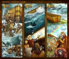 Bible Stories Comic Strips - Genesis 7-8 Noah p4-6 by eikonik