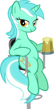 Lyra at the bar by Astringe