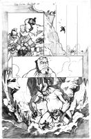 Hellboy Crucifixtion Page 1 by acarabet