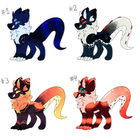 Monster Dog Adopts (3/4 OPEN) by Choca-Adopts
