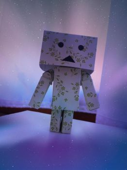 Danbo in space by DanicaWish
