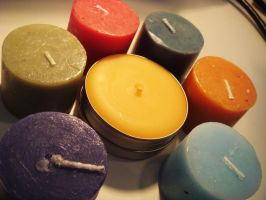 Colorful Candles by Saltychocolate101