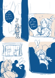 Young Link doodles by bossbetch