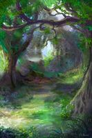 Elven Forest 3 by JKRoots
