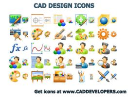 CAD Design Icons by Ikont