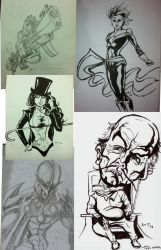 2013 Black and White Commission Collage by amtaylor12