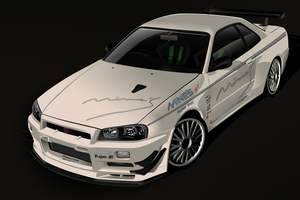 Mine's Demo R34 GT-R by me-myself