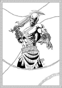 Kratos, Ghost of Sparta by ElieBongrand