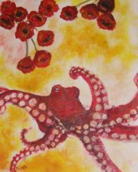 The Red Octopus by FeartehKitty