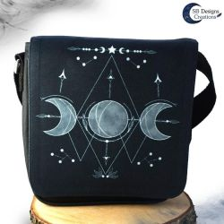 Triple moon shoulder bag - Witch bag - Moonwitch by Nyjama