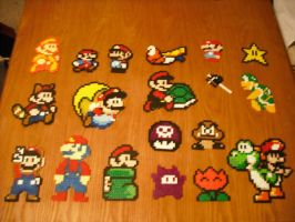 Perler Bead Art - Super Mario1 by Miuki-Salvarus