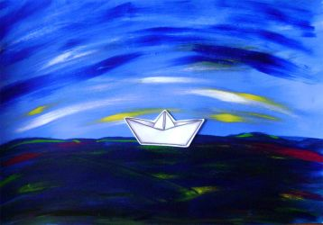 Paperboat in the night by luartandcomics