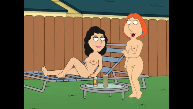 Bonnie Swanson and Lois Griffin try nudism. by CopyPasteZombie