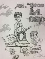 Ash vs. The Forces of Evil Dead by TateDGibbs