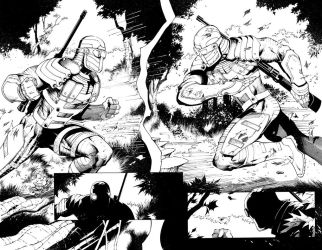 Deadshot issue 6 pages 8 and 9.  Double Trouble by Blasterkid