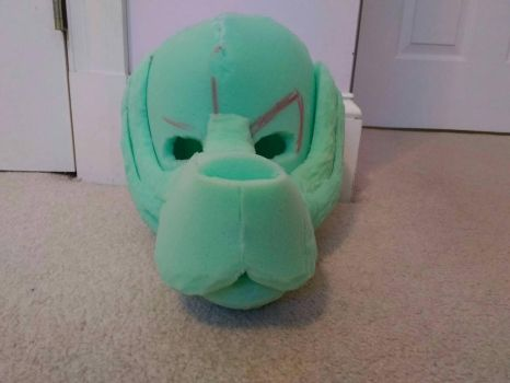 fursuit head WIP picture#1 by MCSpiritWolf
