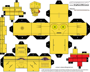 Cubee - C-3PO 'The Force Awakens' by CyberDrone
