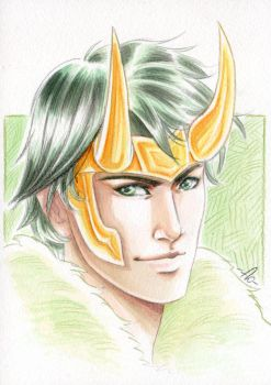 Loki-agent of asgard-watercolor by Jolyne9